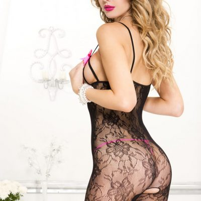 Lace Crotchless Bodystocking